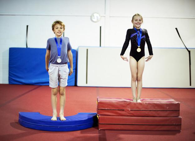 medaljer til børnegymnaster